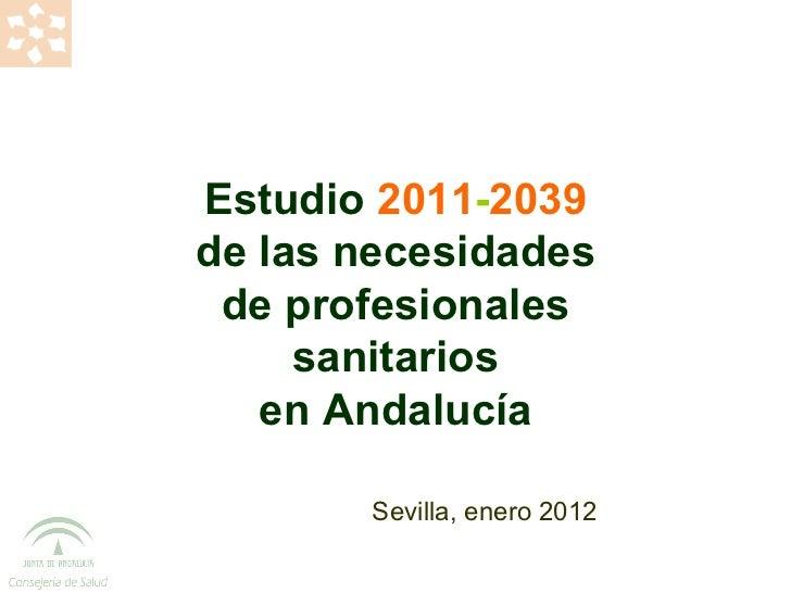 Presentación Estudio de necesidades profesionales SSPA 16.01.2012