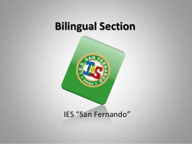 "Bilingual Section IES ""San Fernando"""