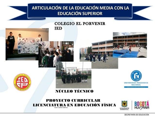 Presentación seminario de articulación IDEP