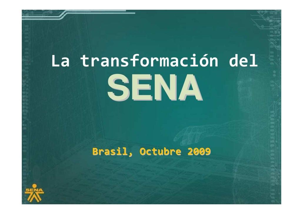 Foro Innovación y Educación Superior: Presentación SENA