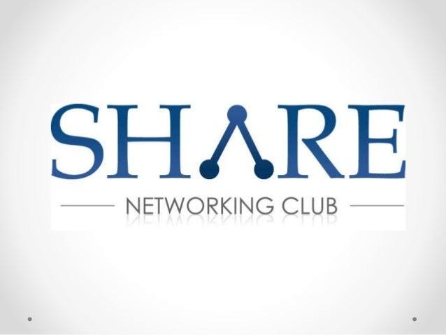 ¿Qué es SHARE? Es un Club de Networking Ejecutivo conformado por capítulos en diferentes categorías de influyentes Empresa...