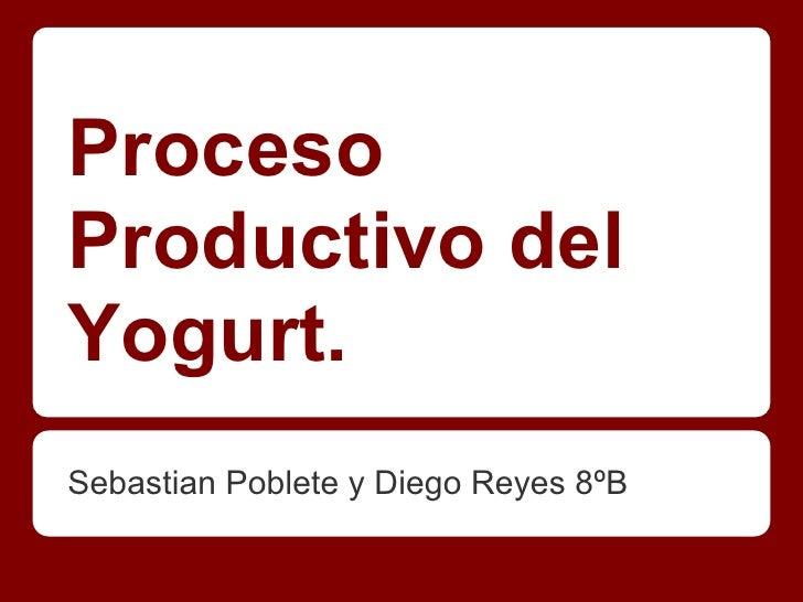 Proceso productivo del Yogurt