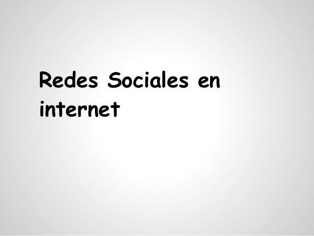 Redes Sociales eninternet
