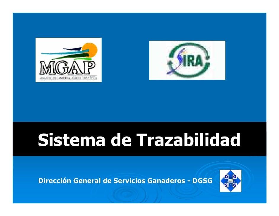 Presentación CGD SIRA MGAP Trazabilidad