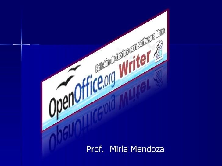 Prof.  Mirla Mendoza