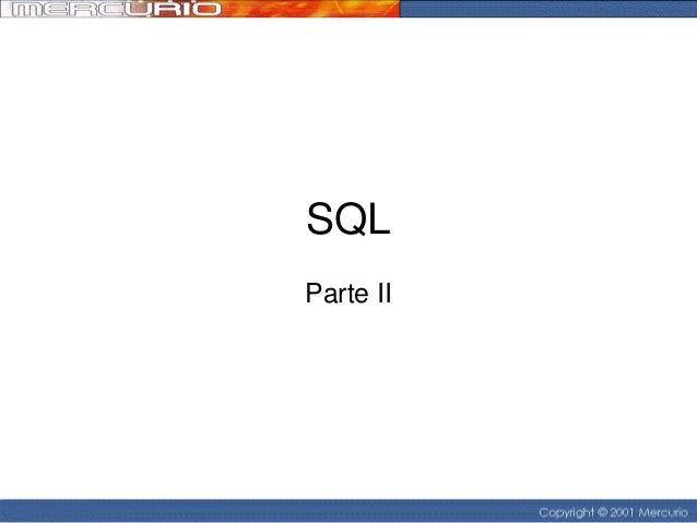 SQL Parte II