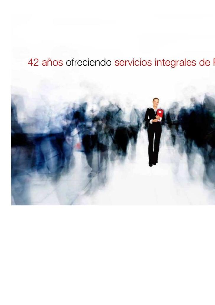 42 años ofreciendo servicios integrales de RRHH                                                  1