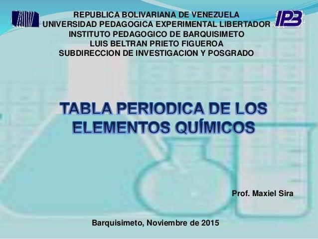 REPUBLICA BOLIVARIANA DE VENEZUELA UNIVERSIDAD PEDAGOGICA EXPERIMENTAL LIBERTADOR INSTITUTO PEDAGOGICO DE BARQUISIMETO LUI...