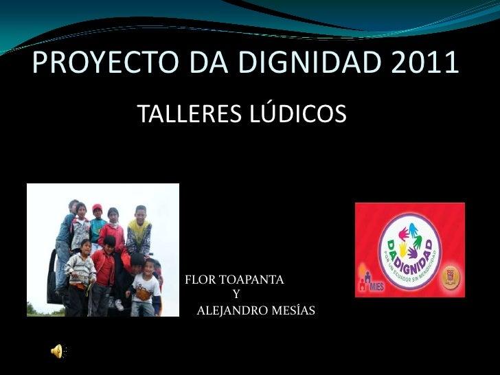 Presentación talleres por Alejandro Mesías
