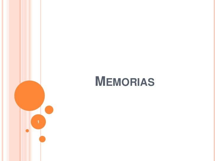 Memorias<br />1<br />