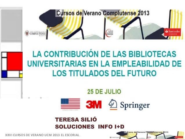 Oportunidades de emprendimiento para estudiantes universitarios -Curso de Verano Universidad Complutense de Madrid. El Escorial. Mesa redonda