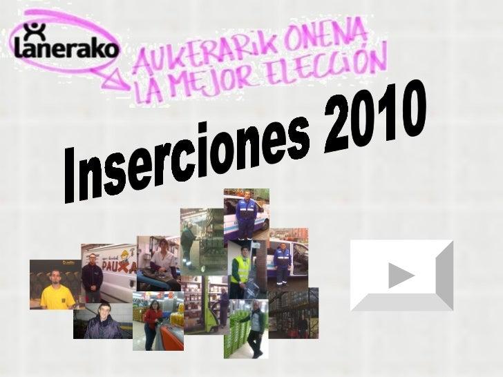 Inserciones 2010
