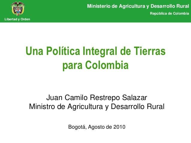 Ministerio de Agricultura y Desarrollo Rural                                                             República de Colo...
