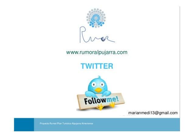 Cómo utilizar Twitter para la promoción de actividades y negocios turísticos- Proyecto Rumo. Redes Sociales.
