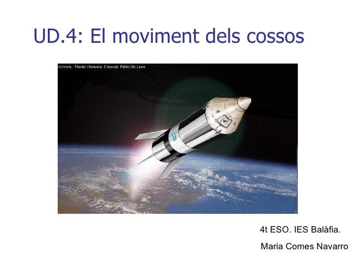 UD.4: El moviment dels cossos 4t ESO. IES Balàfia.  Maria Comes Navarro