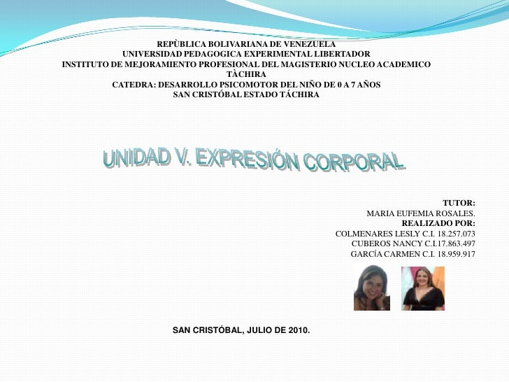 REPÙBLICA BOLIVARIANA DE VENEZUELA<br />UNIVERSIDAD PEDAGOGICA EXPERIMENTAL LIBERTADOR<br />INSTITUTO DE MEJORAMIENTO PROF...