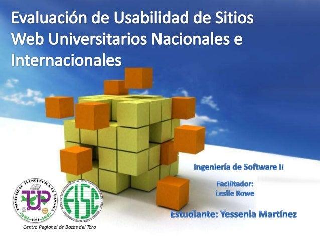 Evaluación de Usabilidad de Sitios Web Universitarios Nacionales e Internacionales