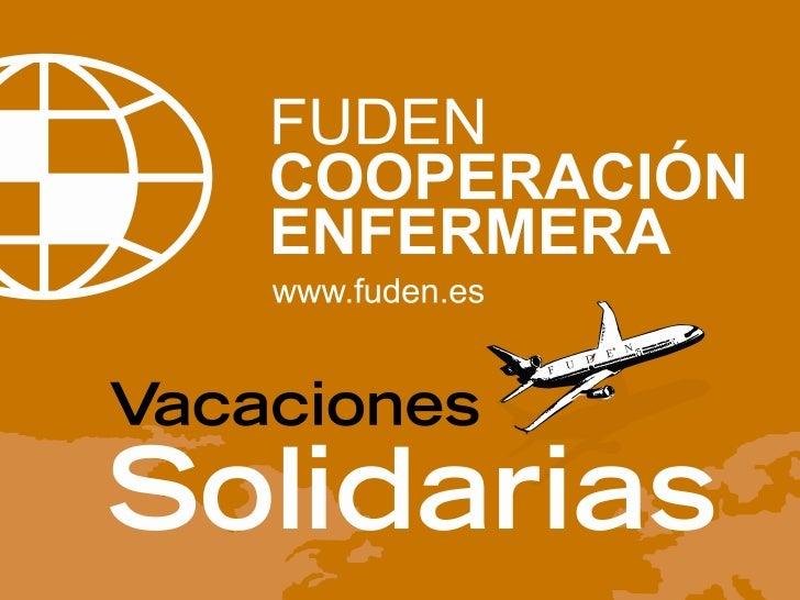 Presentación de Vacaciones Solidarias