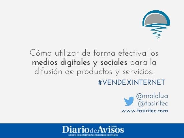 "Presentacion ""Social Media Marketing"" (¡Vende ya por Internet!)"