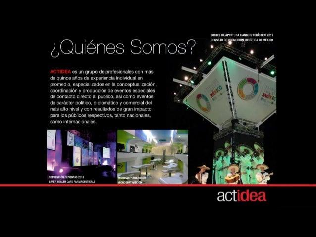 Christian Maya Productor Ejecutivo Cel. 55.1341.2615 cmaya@actidea.mx