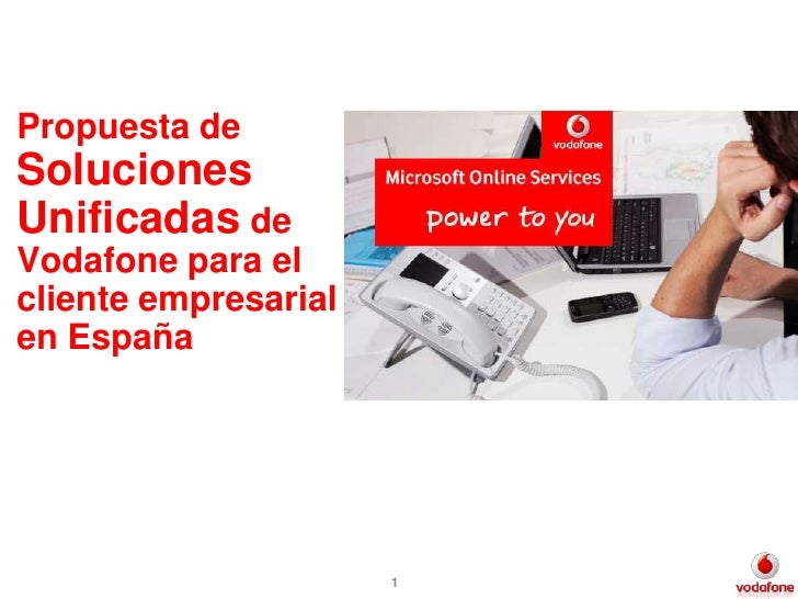 Propuesta de Soluciones Unificadas de Vodafone para el cliente empresarial en España -  Mercadillo Tecnológico de Los Llanos de Aridane