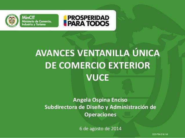 Presentación vuce  proexport-06-ago14