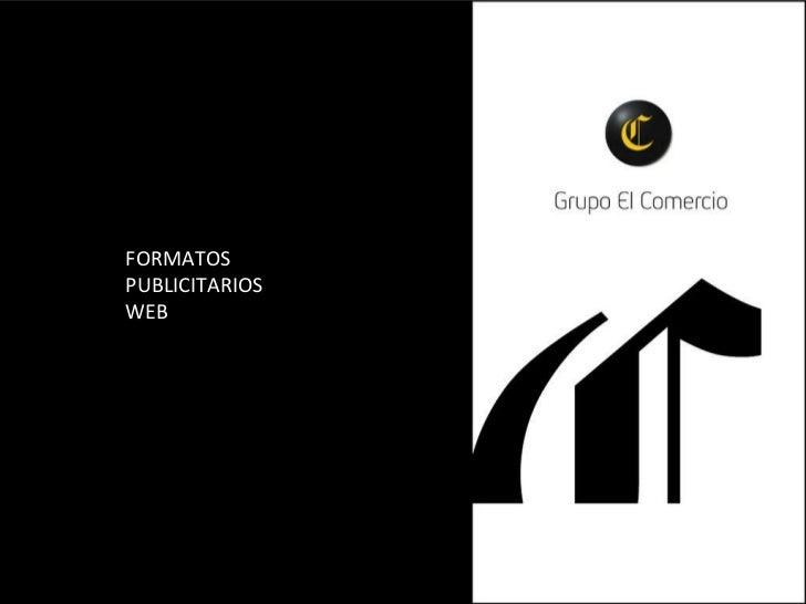 FORMATOS PUBLICITARIOS WEB
