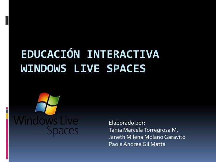 Presentación windows live spaces