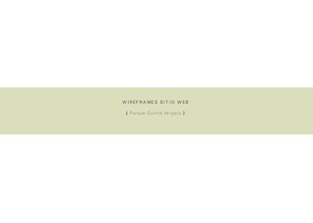 wireframes sitio web( Parque Quinta Vergara )