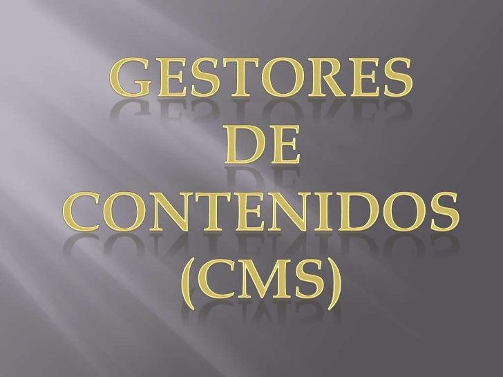 Es un potente gestor de contenidos                                     web (CMS o Content Management                      ...