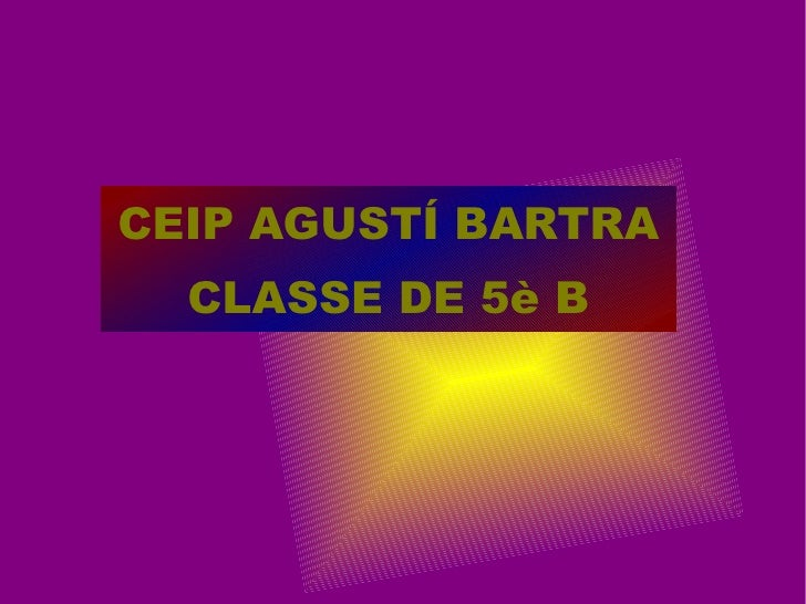 Presentació classe de 5è B