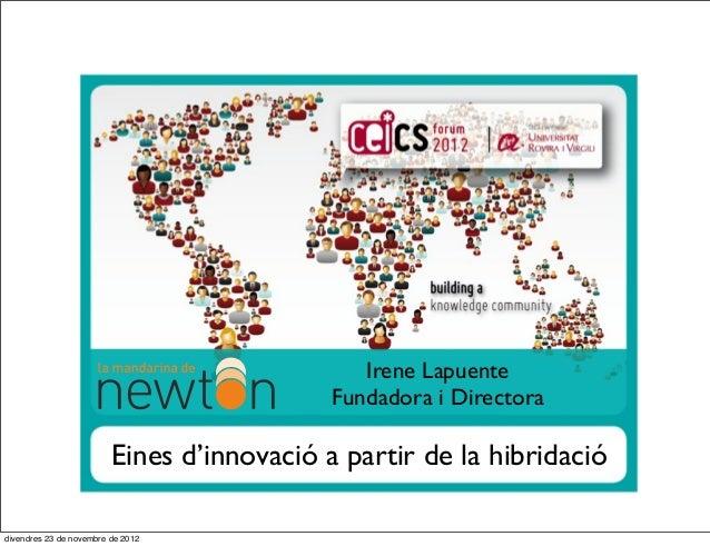 Irene Lapuente                                            Fundadora i Directora                         Eines d'innovació ...