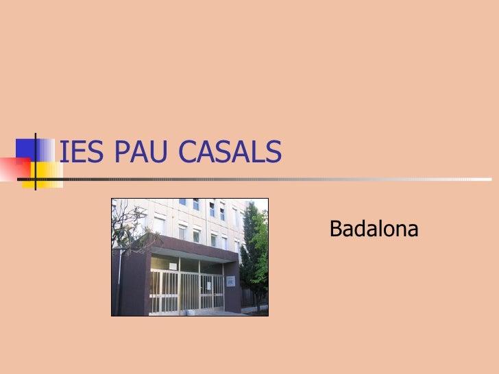 IES PAU CASALS Badalona