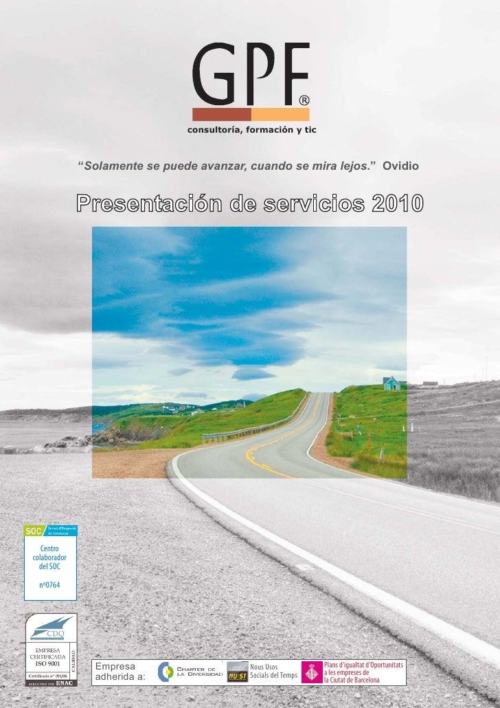 Presentación de servicios 2010