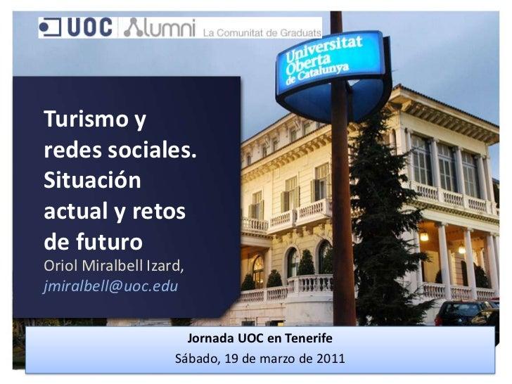 Turismo y redes sociales.
