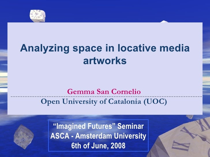 Analyzing space in locative media artworks