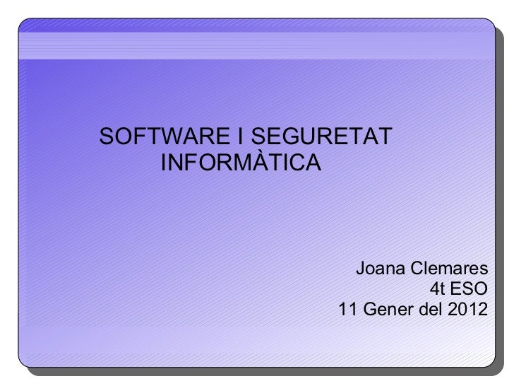 Presentacio informatica