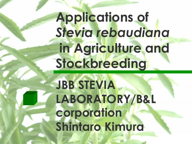 Presentacio jbb stevia laboratory_l&b_shintaro_kimura