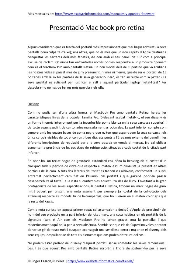Más manuales en: http://www.exabyteinformatica.com/manuales-y-apuntes-freeware© Roger Casadejús Pérez   http://www.exabyte...