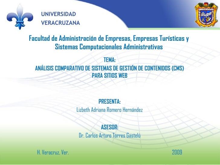 Facultad de Administración de Empresas, Empresas Turísticas y Sistemas Computacionales Administrativas TEMA: ANÁLISIS COMP...