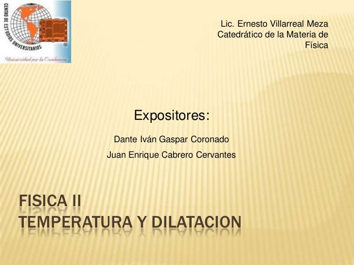 Lic. Ernesto Villarreal Meza                                   Catedrático de la Materia de                               ...