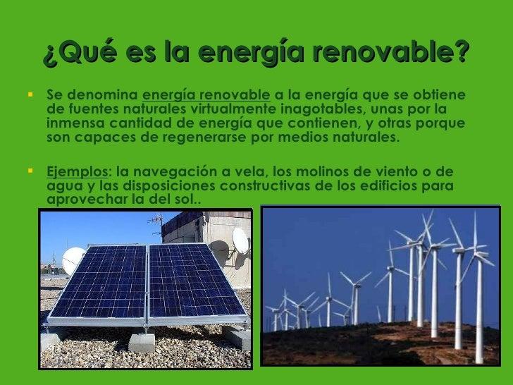 Resultado de imagen para que es energia renovable