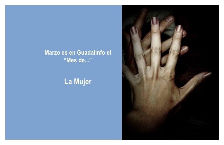"""Marzo es en Guadalinfo el """"Mes de..."""" La Mujer"""