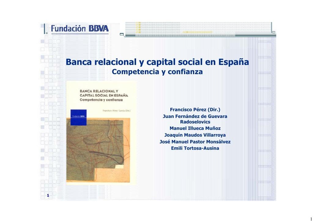 Banca relacional y capital social en España
