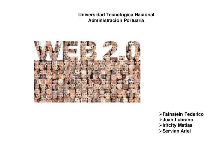Universidad Tecnologica Nacional    Administracion Portuaria                                   Fainstein Federico        ...