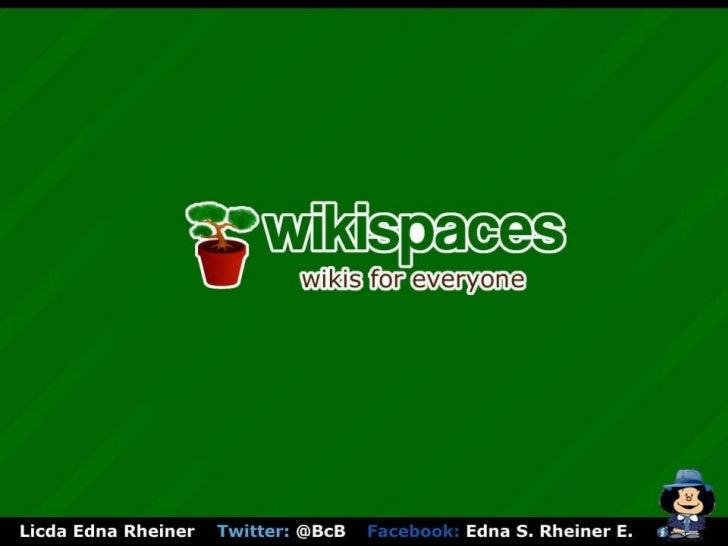 Conociendo wikispaces