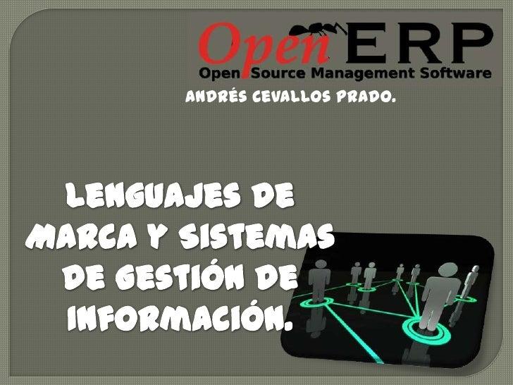 Andrés Cevallos Prado.<br />Lenguajes de Marca y Sistemas de Gestión de Información.<br />