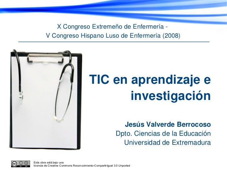 X Congreso Extremeño de Enfermería -        V Congreso Hispano Luso de Enfermería (2008)                                  ...