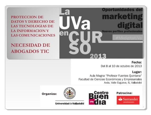 Oportunidades del marketing digital UVA - Ponencia de Javier Alvarez Hernando