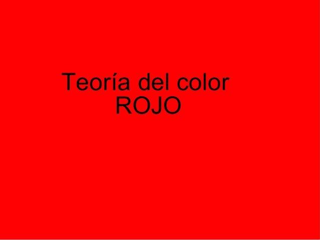 Teoría del color ROJO